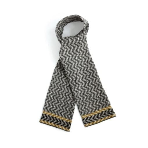 ochre-chevron-scarf
