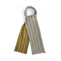 Shaggy Pinstripe Silver & Ochre