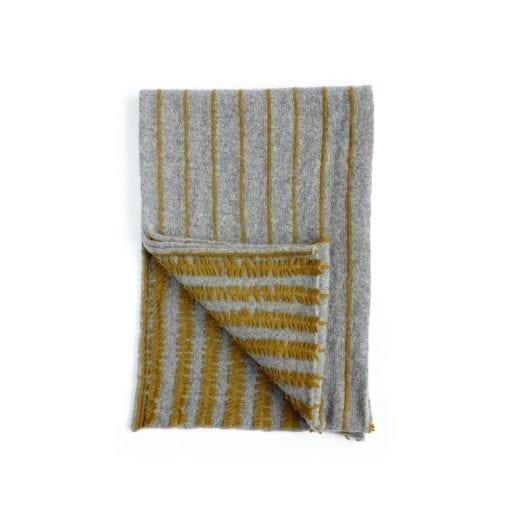 Shaggy Pinstripe Wrap Silver & Ochre